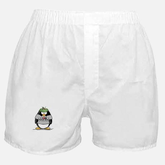Love Poker Penguin Boxer Shorts
