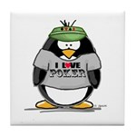 Love Poker Penguin Tile Coaster