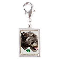 irish wolfhound Silver Portrait Charm