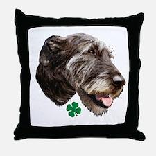 irish wolfhound Throw Pillow