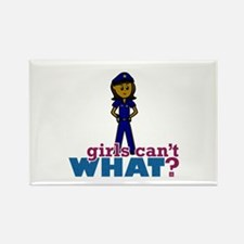 Woman Police Officer Rectangle Magnet