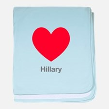 Hillary Big Heart baby blanket