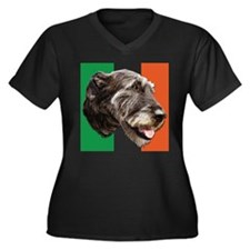 irish wolfhound Women's Plus Size V-Neck Dark T-Sh