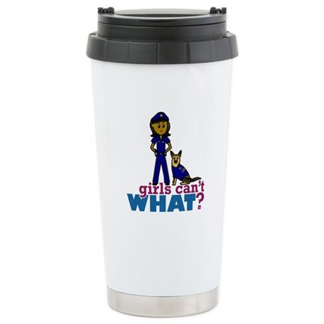 K-9 Police Woman Stainless Steel Travel Mug