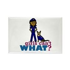 K-9 Police Woman Rectangle Magnet