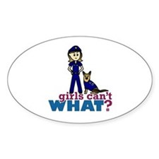 Woman K-9 Police Officer Decal