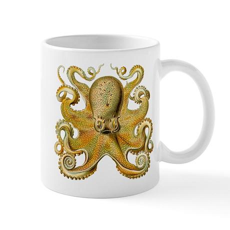 Vintage octopus cephalopod scientific drawing Mug