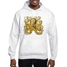Vintage octopus cephalopod scientific drawing Hood