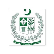 Pakistan Coat of Arms Rectangle Sticker