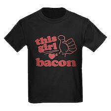 Girl Loves Bacon T-Shirt