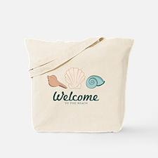 Welcome Seashells Tote Bag