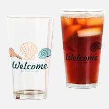Welcome Seashells Drinking Glass