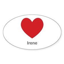 Irene Big Heart Decal