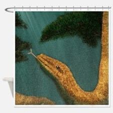 SnakesYearDetail Shower Curtain