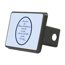 Romans 8 28 Bible Verse Blue Hitch Cover