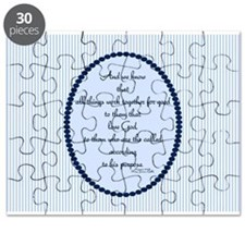 Romans 8 28 Bible Verse Blue Puzzle