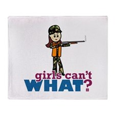 Girl Hunter Throw Blanket