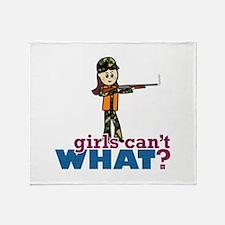 Girl Hunter Throw Blanket