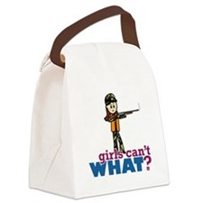 Girl Hunter Canvas Lunch Bag