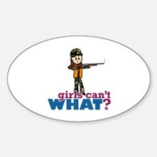 Girl Hunter Sticker (Oval)
