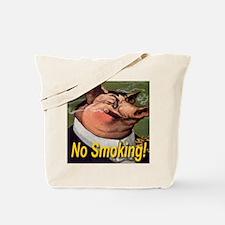 No Smoking Pig Tote Bag