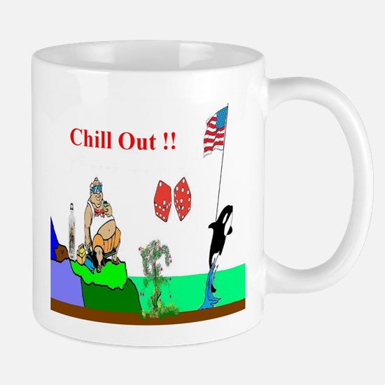 Chill Out Fun Art Mug