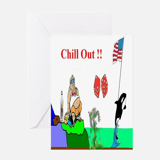 Chill Out Fun Art Greeting Card