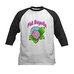 Pink Magnolia Kids Baseball Jersey
