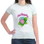 Pink Magnolia Jr. Ringer T-Shirt