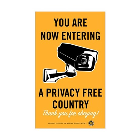 Privacy Free Country Sticker