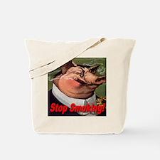 Stop Smoking Pig Tote Bag
