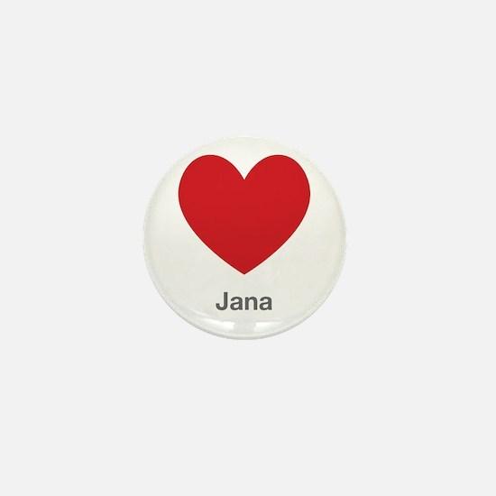 Jana Big Heart Mini Button