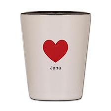 Jana Big Heart Shot Glass