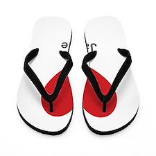 Janelle Big Heart Flip Flops
