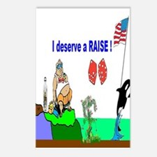 Office Work Raise Postcards (Package of 8)