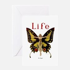 Vintage Life Flapper Butterfly 1922 Greeting Card