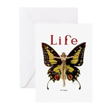 Vintage Life Flapper Butterfly 1922 Greeting Cards