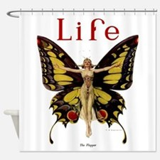 Vintage Life Flapper Butterfly 1922 Shower Curtain