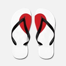 Janice Big Heart Flip Flops