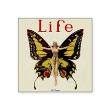 Vintage Life Flapper Butterfly 1922 Sticker