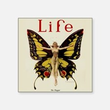 Vintage Life Flapper Butterfly 1922 Sticker