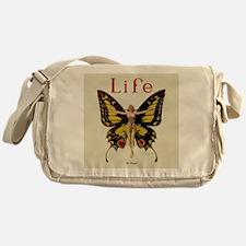 Vintage Life Flapper Butterfly 1922 Messenger Bag