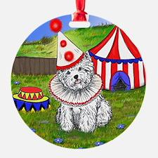 Circus Westie Ornament