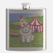 Circus Westie Flask