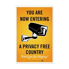 Privacy Free Country Posters