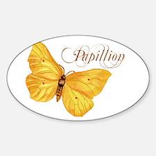Papillion Oval Decal