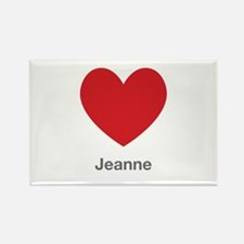 Jeanne Big Heart Rectangle Magnet (10 pack)