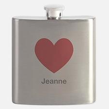 Jeanne Big Heart Flask