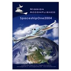 SpaceShipOne Earth View Framed Print