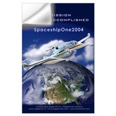SpaceShipOne Earth View Wall Decal